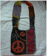 Bag Hippie Big Peace Patchwork