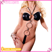 Drop Shipping Transparent Hot Sexy Black Teddy Nighty