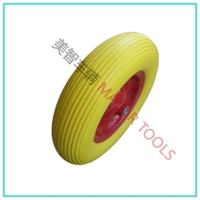 4.00-8 polyurethan tyre pu foam wheel for wheelbarrow