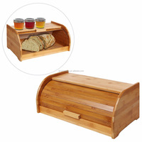 Bamboo Rolltop Bread Box 2016 New Design Eco-friendly Bamboo Bread Storage Bin