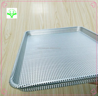 high quality grill plate aluminum alloy square pizza pans durable screen oven baking pan