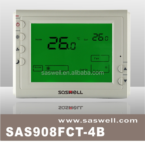 Large LCD display digital room thermostat