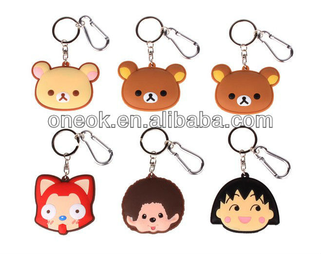 2013 newest soft pvc key chain