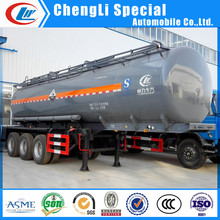 Tri-axle Dilute hydrochloric acid tank trailer inside plastic lined chemical storage tanks, 40M3 chemical storage tanks for sale