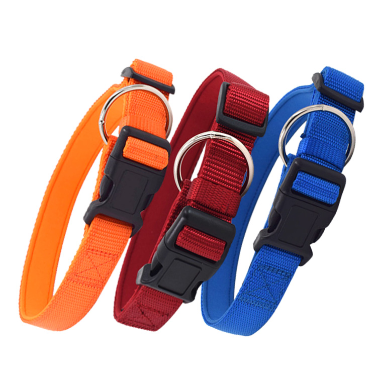 Custom Design Nylon Sublimation Webbing Dog Collar With Plastic Buckle Pet Dog Collar