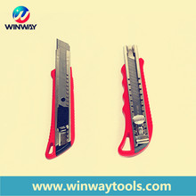 High quality snap-off utility knife/18mm multi-function office cutter knife