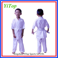 WKF wholesale high quality white kids karate uniform for kids