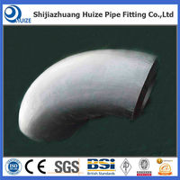 standard pipe fitting 90 degree long radius R=1.5D butt weld elbow