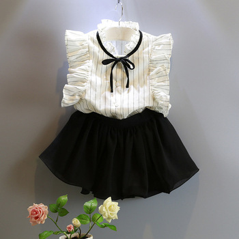 Fashion children baby black net skirt beach shorts clothing overseas sale