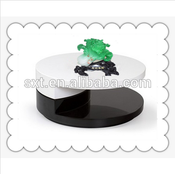 new modern high gloss lacquer swivel coffee table
