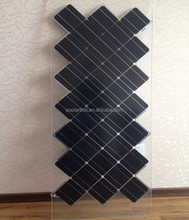 Whole sale 100w double glass transparent glass solar panel with more than 25 years lifetime