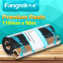 "Premium resin ribbon thermal transfer ribbon 110mm x 90m 4.33"" x 295ft for barcode printer"