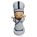 Making custom 6 inch white outfits soft eco-friendly pvc material plastic figures for decoration