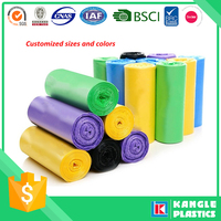 plastic colorful disposable 33 45 55 gallon trash bag