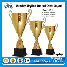 Factory Price Golden Trophy Cup Custom Big Heavy Award Metal Trophy Cup