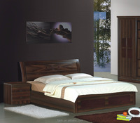 Factory Wholesale Price Walnut Colour Arabic Bedroom Furniture