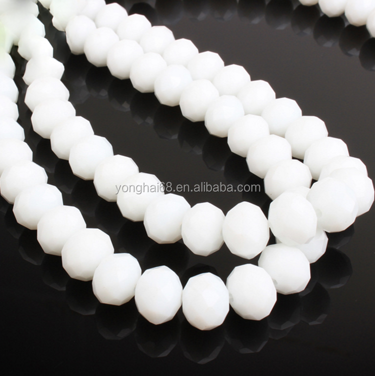 Hot Selling Exquisite 4-14mm Rondelle Beads For Crystal Beaded Curtain Accessories