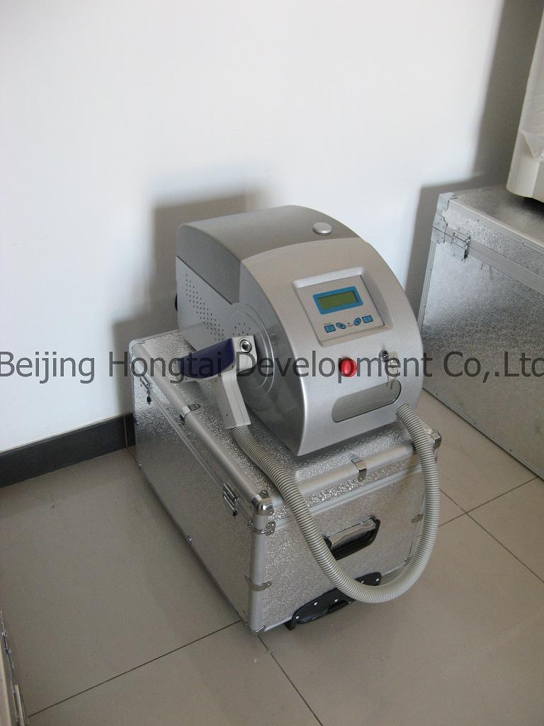 Salon spa used vertical/Portable q-switch ND-YAG Laser tattoo pigment/Eyebrow /spot/Birthmark/eyeline removal beauty equipment