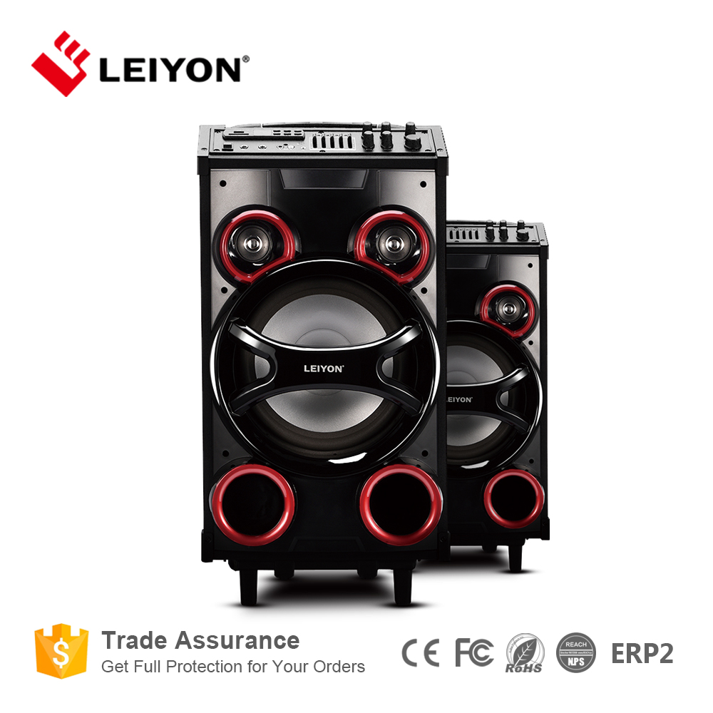 2016 Hot Sale Design of 130W High Power Trolley Speaker with Karaoke and Bluetooth