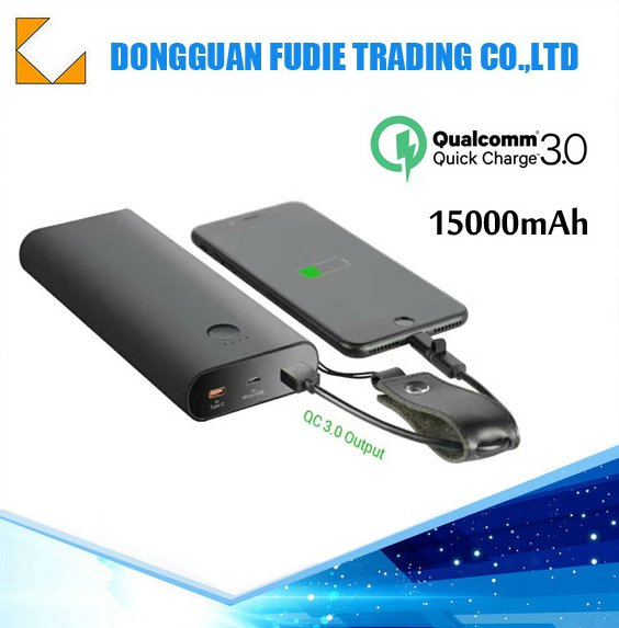 Fast Charger 15000mAh QC 3.0 mobile power bank