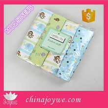 30''x30'' 4pcs/pack Cozy 100% Cotton Flannel Receiving Blanket for Swaddling Newborn Baby