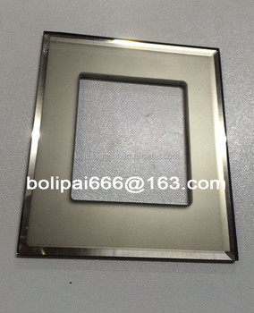 Custom Mirror Beveled edge Glass Switch Panel