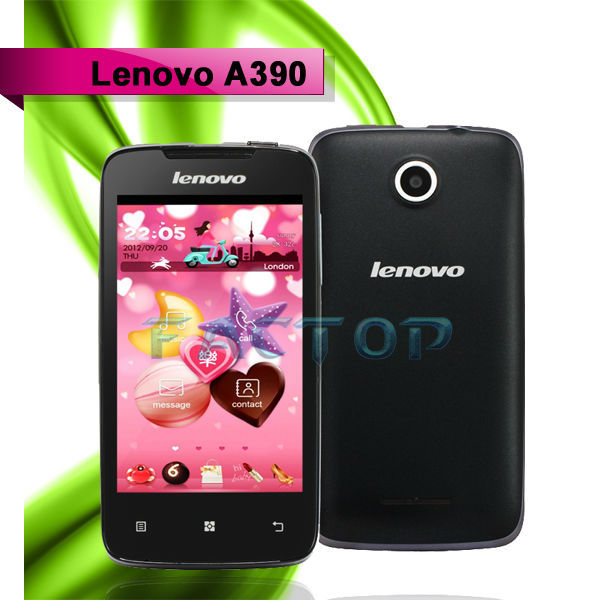 lenovo a390 with CE original alibaba android 4.0 elderly mobile phone