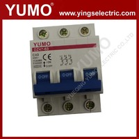 mcb 3p 16A 220v 400v 6ka breaking capacity DZ47-63 air mini programmable circuit breaker