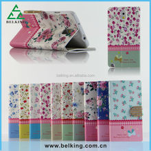 Wholesale-floral printed leather case flip cover card wallet pouch case for Samsung note 3 case