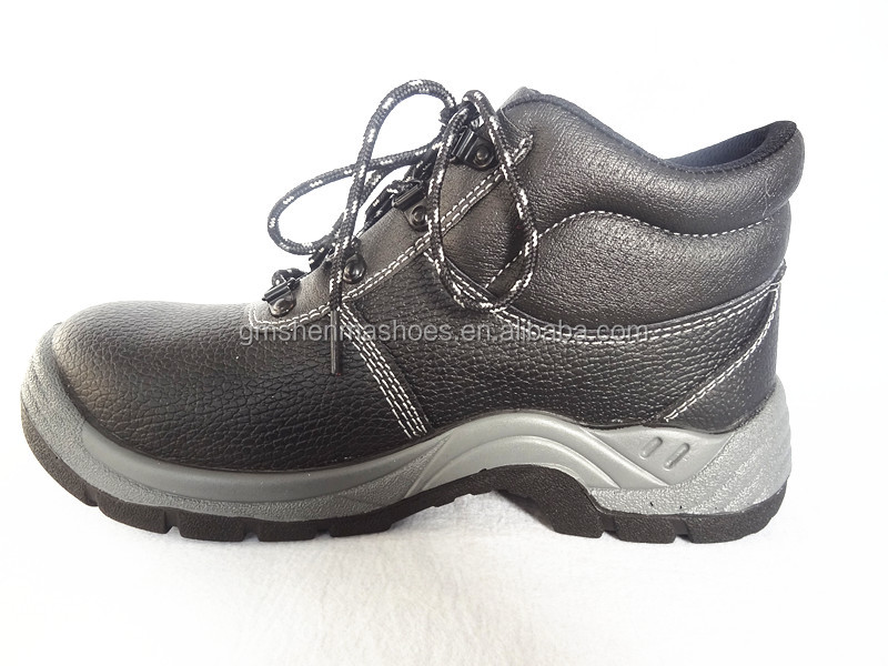 genuine eather,steel toe and steelplate , pu injection outsole SM195 health and safety equipment