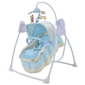Multifunctional new born baby electric swing bed swing bed