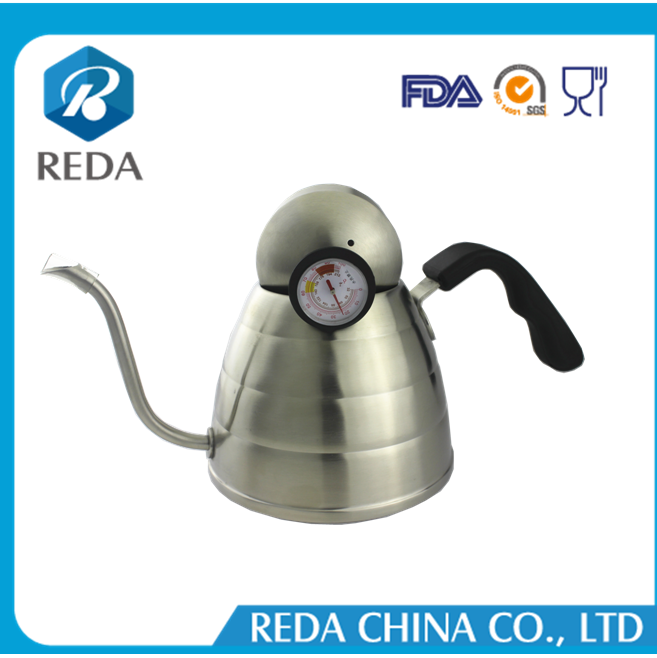 Wholesale 900 ml Stainless Steel Coffee Drip Pot and Tea Kettle with Thermometer