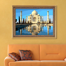 Scenery wall hanging art and craft digital oil painting for living room