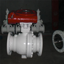 stainless steel CF8M flanged manual ball valve