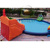 inflatable land amusement water park with slides and pool
