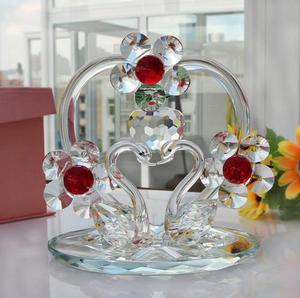 Pujiang Factory Wholesale Crystal Swan Wedding Return Gift and Wedding Anniversary Gift