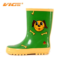 2015 fashion green dog prints gumboots cheap rubber safety rain boots