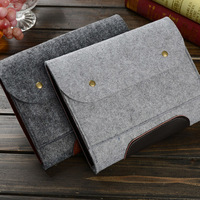 2015 New Fashion Wool Felt Laptop protective Sleeve bag For MacBook 11 13 15inch pouch Cover For iPad Pro