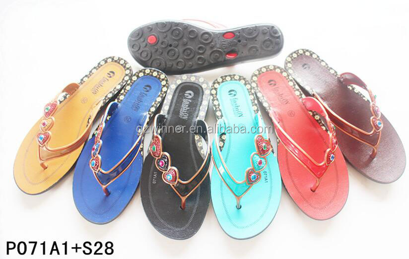 2017 jieyang new designs of PVC mesh belt surface stripe sole beautiful women wholesale rhinestone flip flops w76