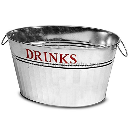 Galvanized Oval Metal Ice Bucket/Beer Bucket/Party Tub