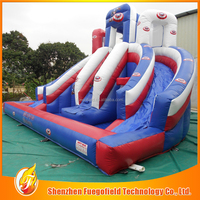 Customized Safety Material inflatable waterslide