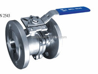 2-PC FLANGE BALL VALVE FULL BORE PN16 WITH ISO 5211