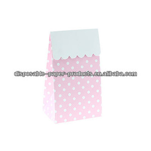Stylish Party Partyware PINK POLKADOT PARTY TREAT BOXES Party Bags/Treat Bags LOLLY TREAT FAVOUR BOX Kids party supplies Vintage