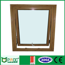 PNOC022732LS Aluminum good price double Glass residential awning window