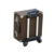 Luxurious trolley leather black suitcase with wheels for travel