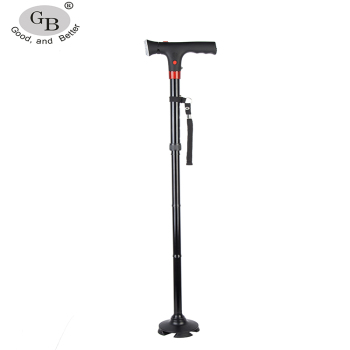 2017 new Folding LED Light For Walking Cane Arm Walking Cane with alarm