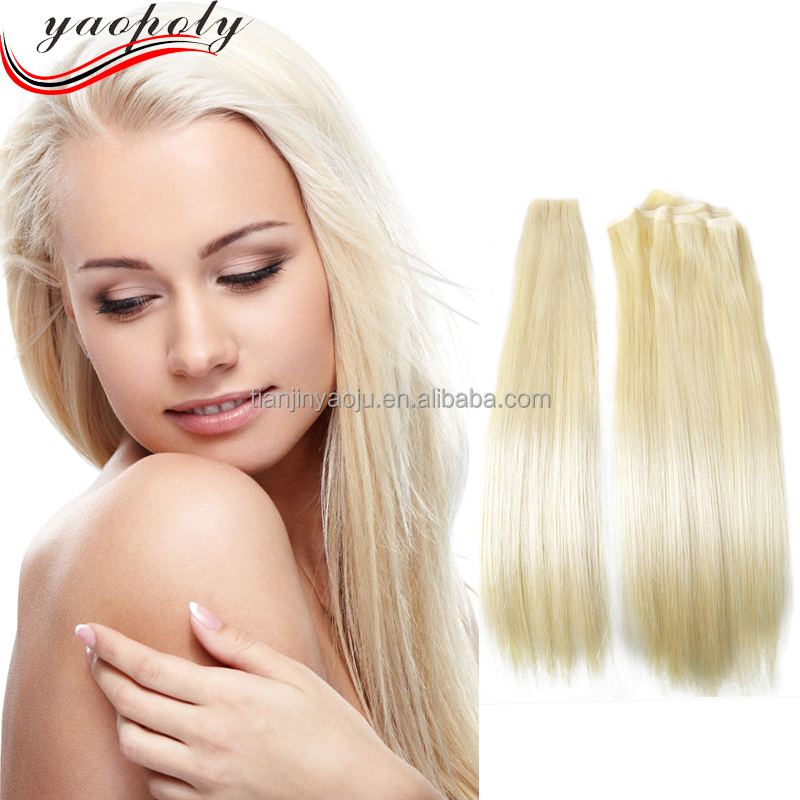 Alibaba Wholesale 32 Inch Blonde Hair Extensions Relaxed Straight