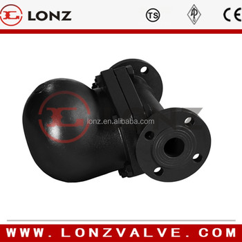straight type ball float steam trap FT44 flange end