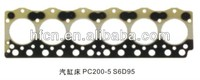 excavator komatsu PC200-5 6D95 cylinder head gasket which made in china