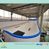 standard size slide HDPE hockey shooting board/ excellent wear-resistant ice rink skating panels